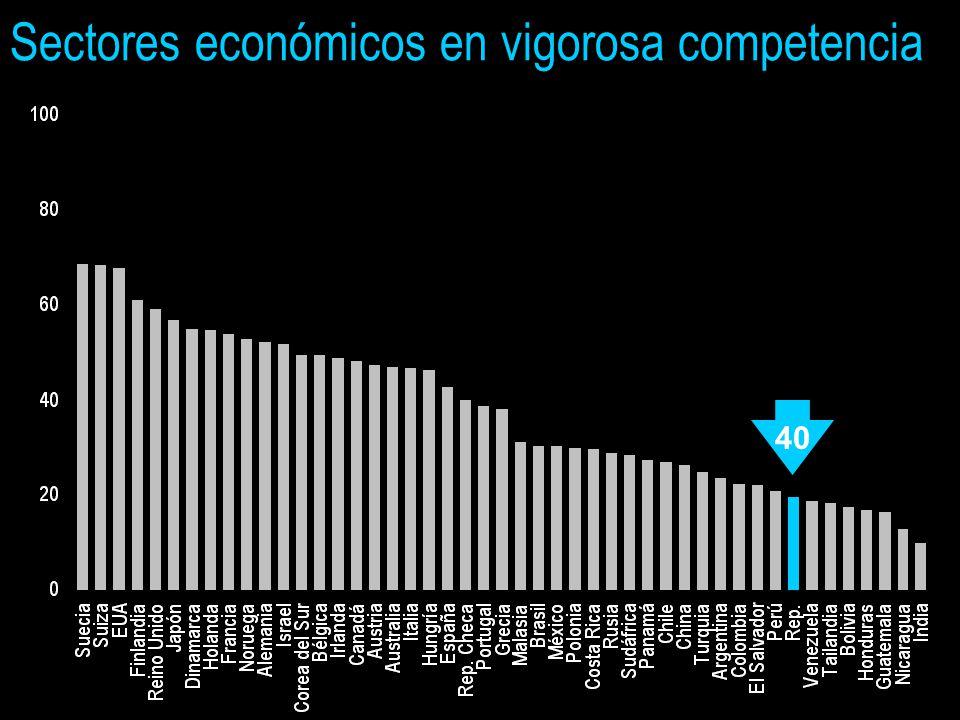 Sectores económicos en vigorosa competencia 40