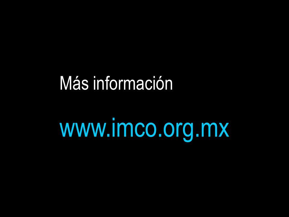 Más información www.imco.org.mx