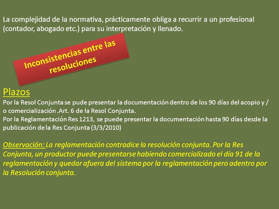 La complejidad de la normativa, prácticamente obliga a recurrir a un profesional (contador, abogado etc.) para su interpretación y llenado.