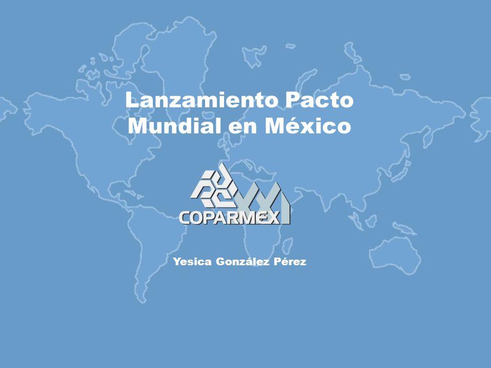Lanzamiento Pacto Mundial en México Yesica González Pérez