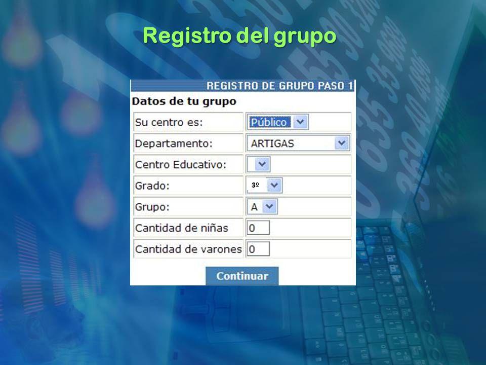 Registro del grupo 3º
