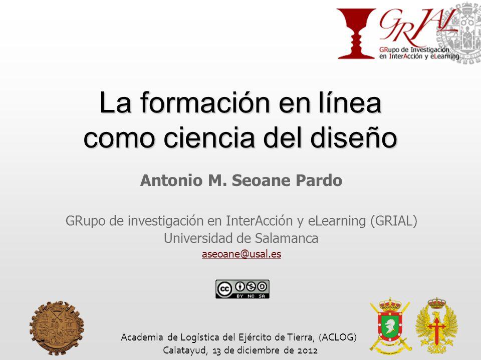 La formación en línea como ciencia del diseño Antonio M.