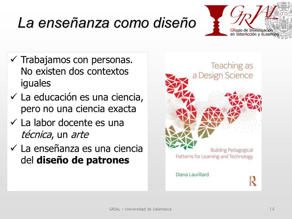 La enseñanza como diseño GRIAL – Universidad de Salamanca 14 Trabajamos con personas.