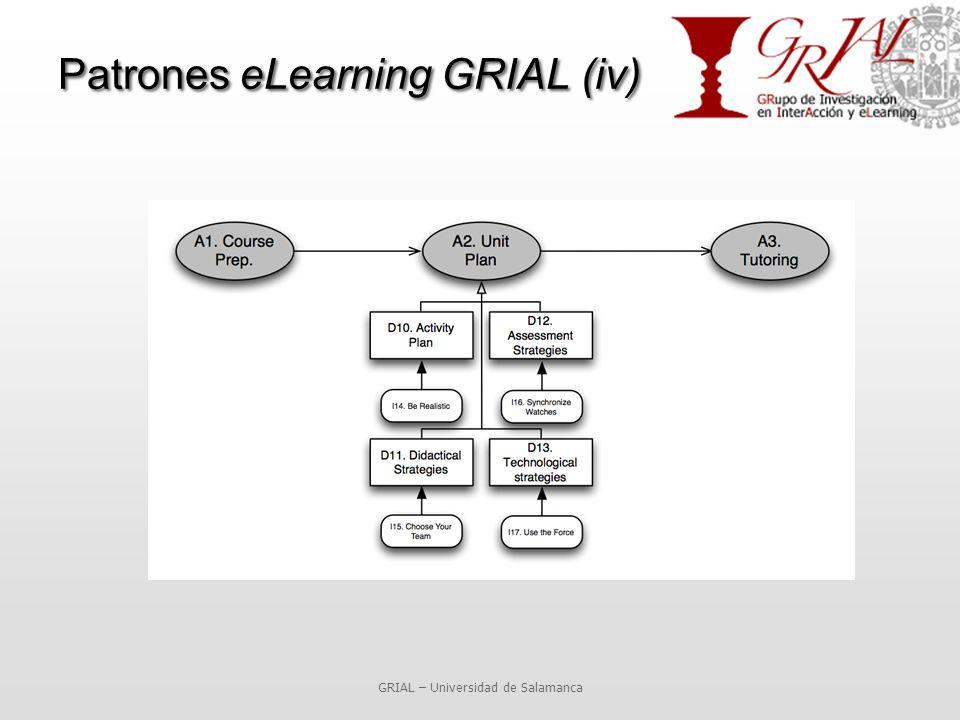 GRIAL – Universidad de Salamanca Patrones eLearning GRIAL (iv)