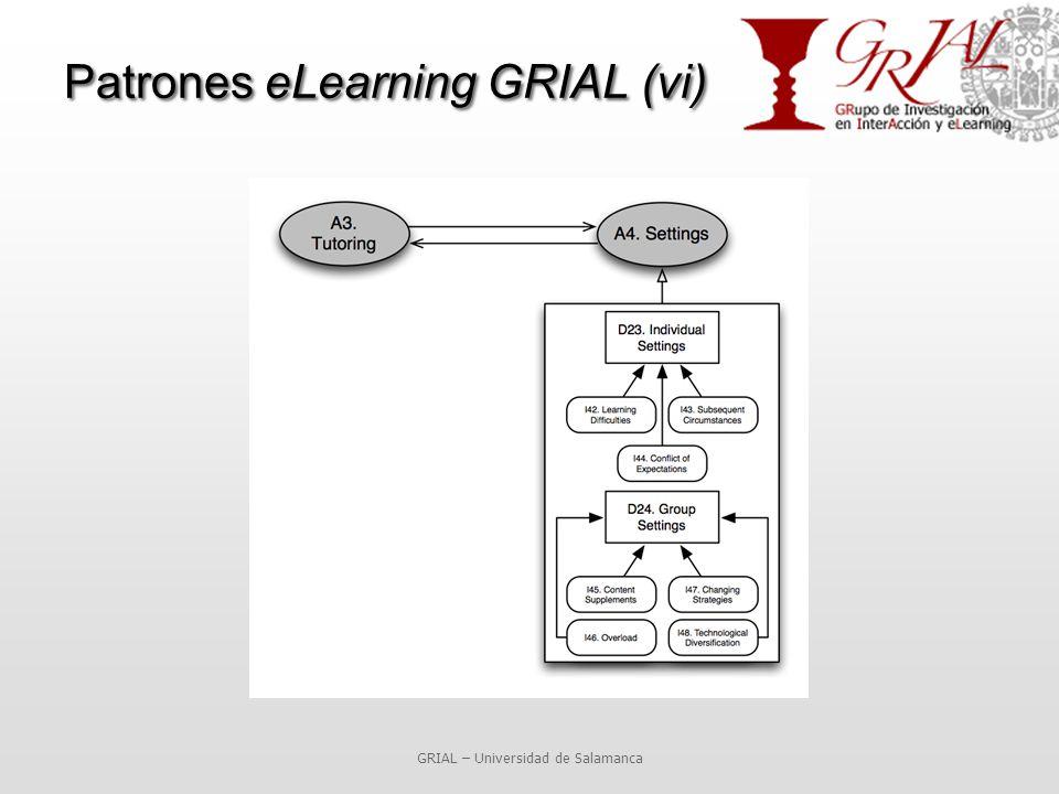 GRIAL – Universidad de Salamanca Patrones eLearning GRIAL (vi)