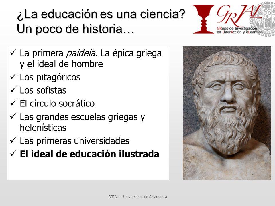 ¿La educación es una ciencia. Un poco de historia… La primera paideía.