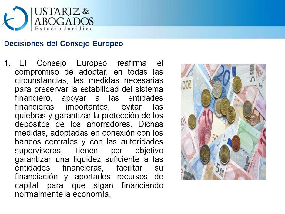 Decisiones del Consejo Europeo 1.