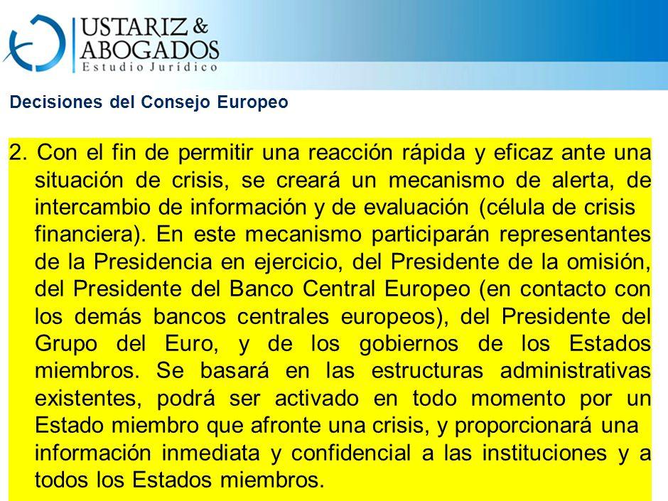 Decisiones del Consejo Europeo 2.