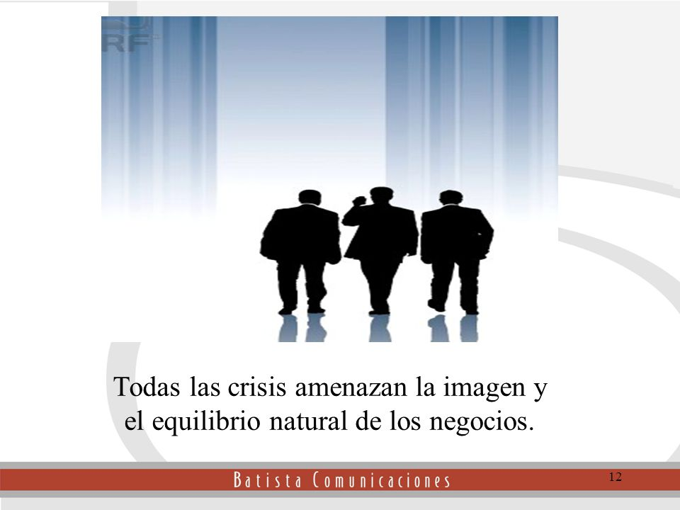 Todas las crisis amenazan la Todas las crisis amenazan la imagen y el equilibrio natural de los negocios.
