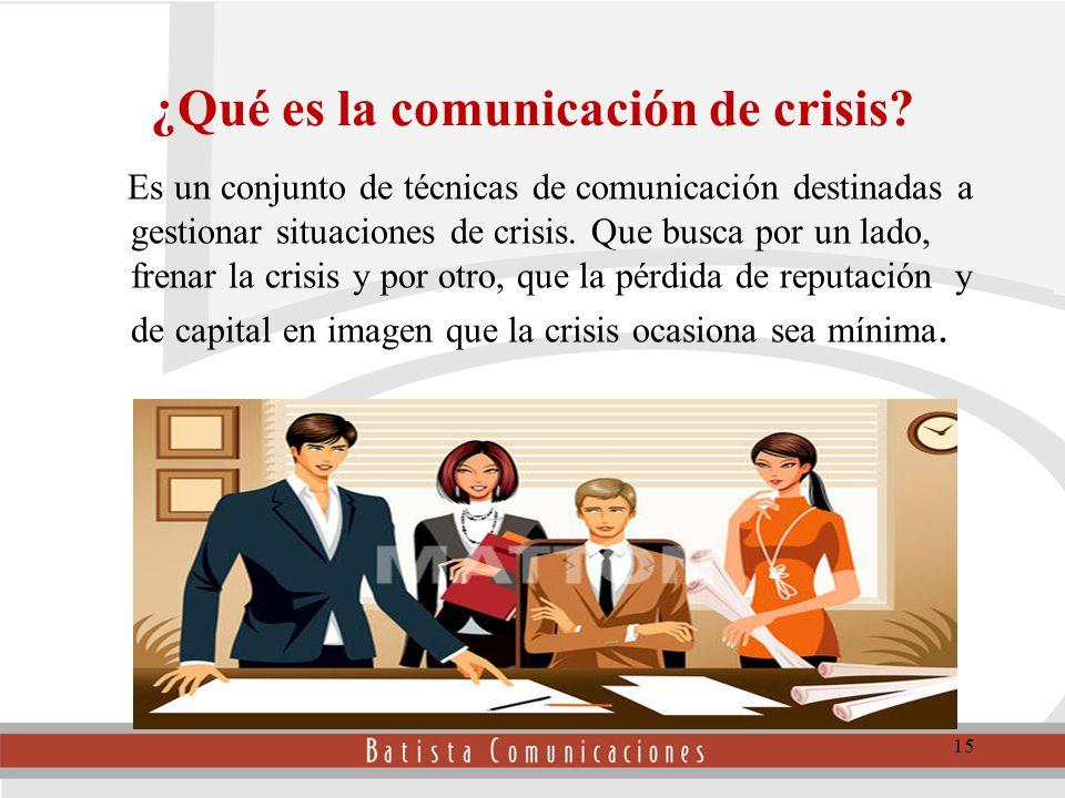 ¿Qué es la comunicación de crisis.