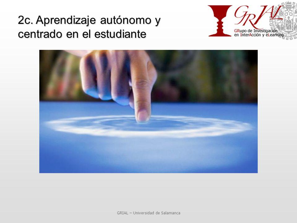 2c. Aprendizaje autónomo y centrado en el estudiante GRIAL – Universidad de Salamanca