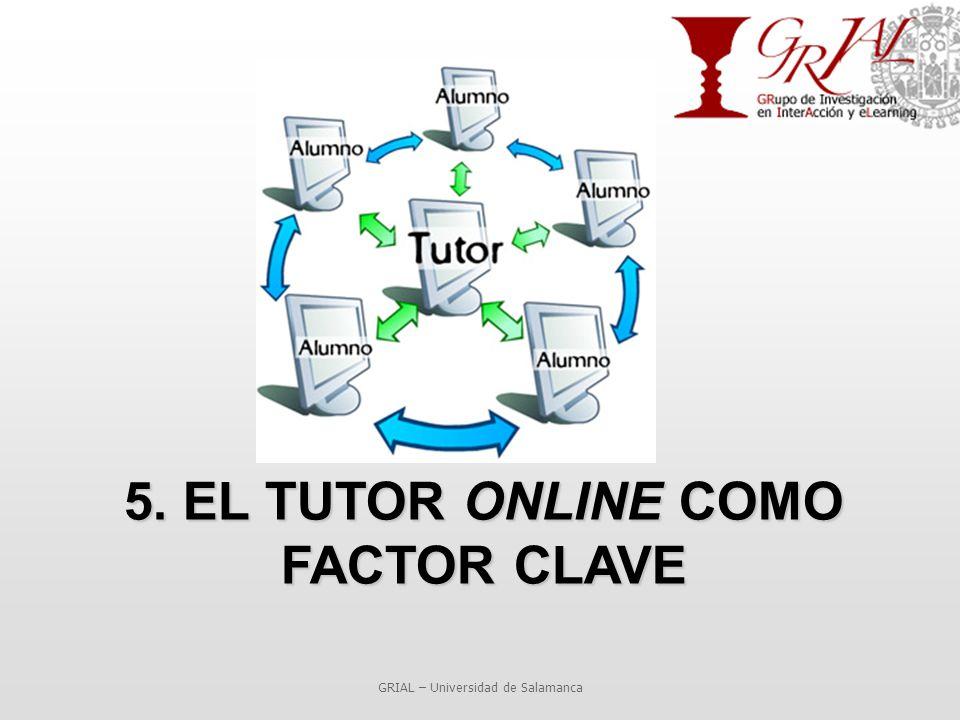 5. EL TUTOR ONLINE COMO FACTOR CLAVE GRIAL – Universidad de Salamanca
