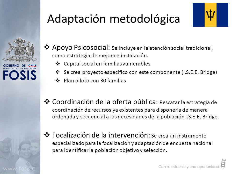  Apoyo Psicosocial : Se incluye en la atención social tradicional, como estrategia de mejora e instalación.