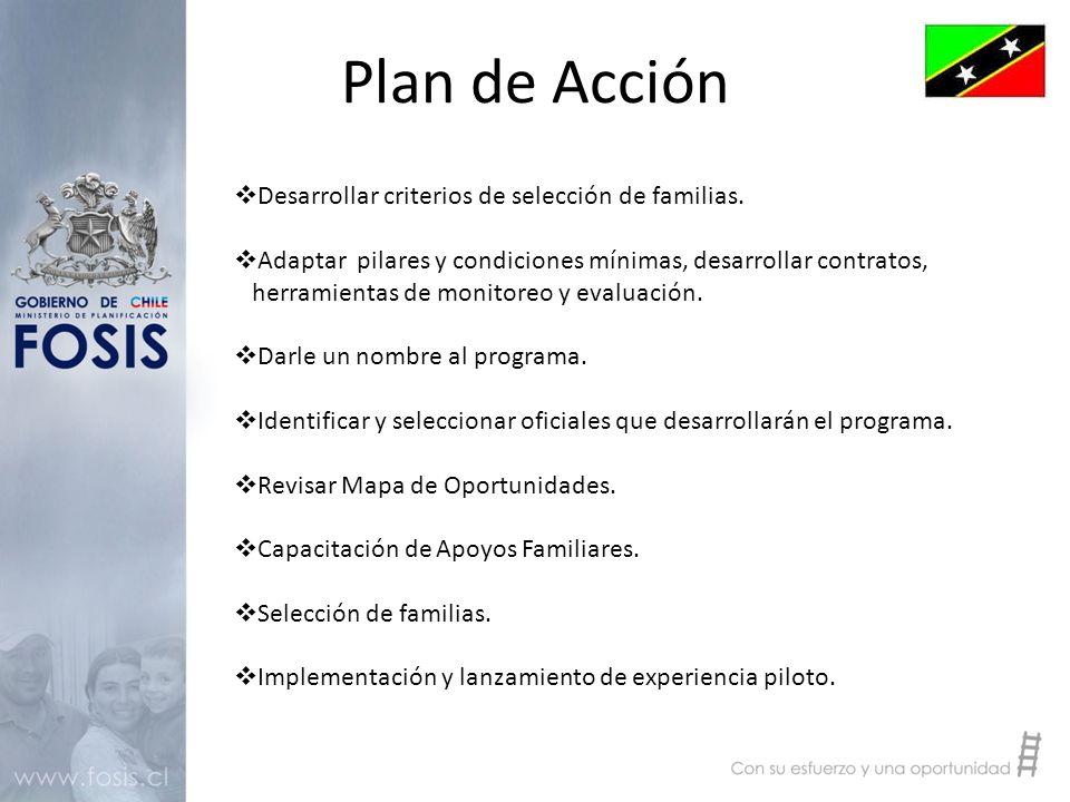Plan de Acción  Desarrollar criterios de selección de familias.