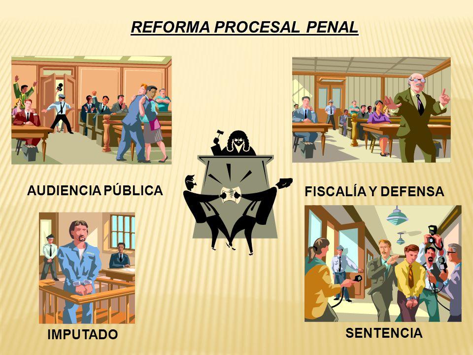 REFORMA PROCESAL PENAL AUDIENCIA PÚBLICA FISCALÍA Y DEFENSA IMPUTADO SENTENCIA