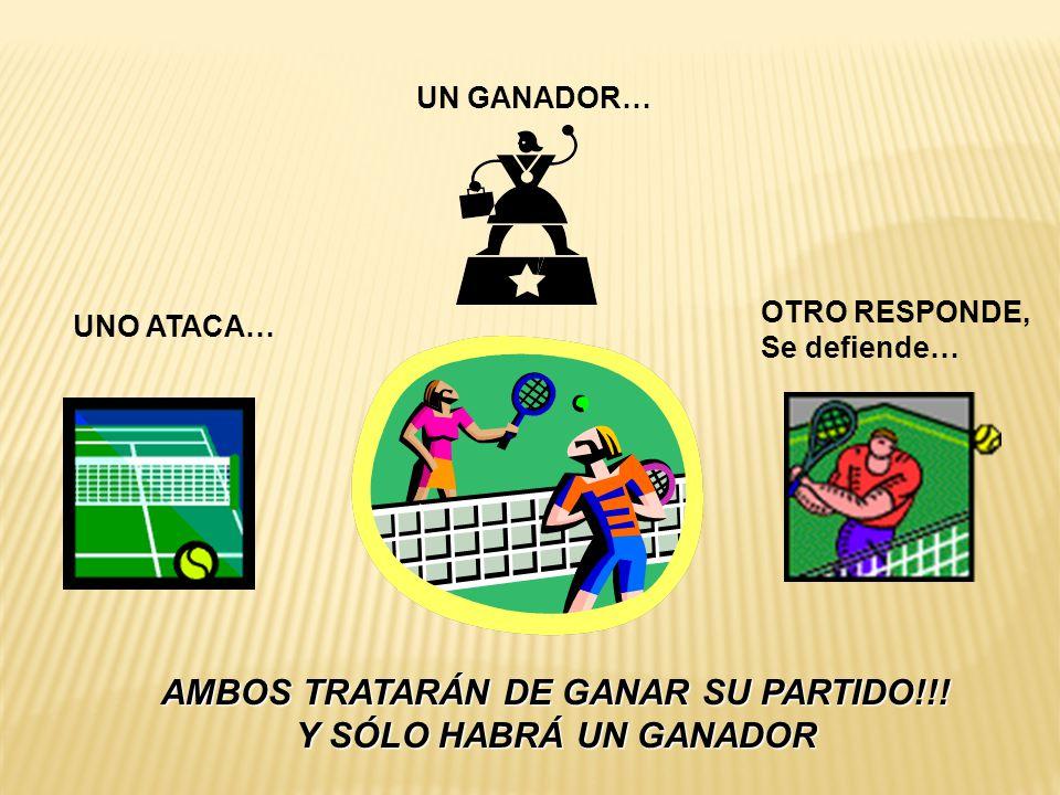UN GANADOR… OTRO RESPONDE, Se defiende… UNO ATACA… AMBOS TRATARÁN DE GANAR SU PARTIDO!!.