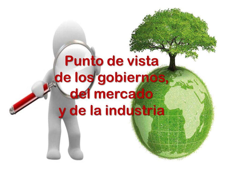 Punto de vista de los gobiernos, del mercado y de la industria