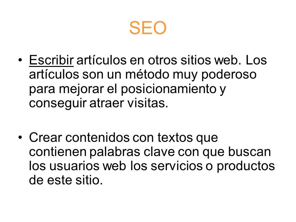 SEO Escribir artículos en otros sitios web.