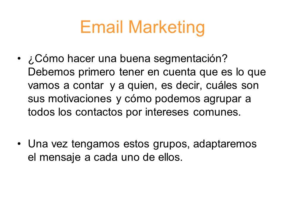 Email Marketing ¿Cómo hacer una buena segmentación.