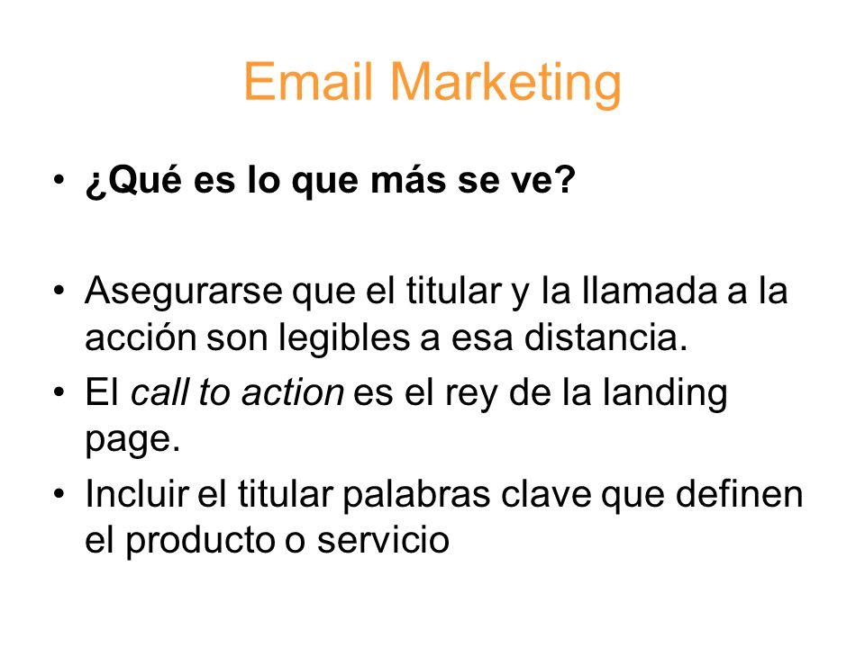 Email Marketing ¿Qué es lo que más se ve.