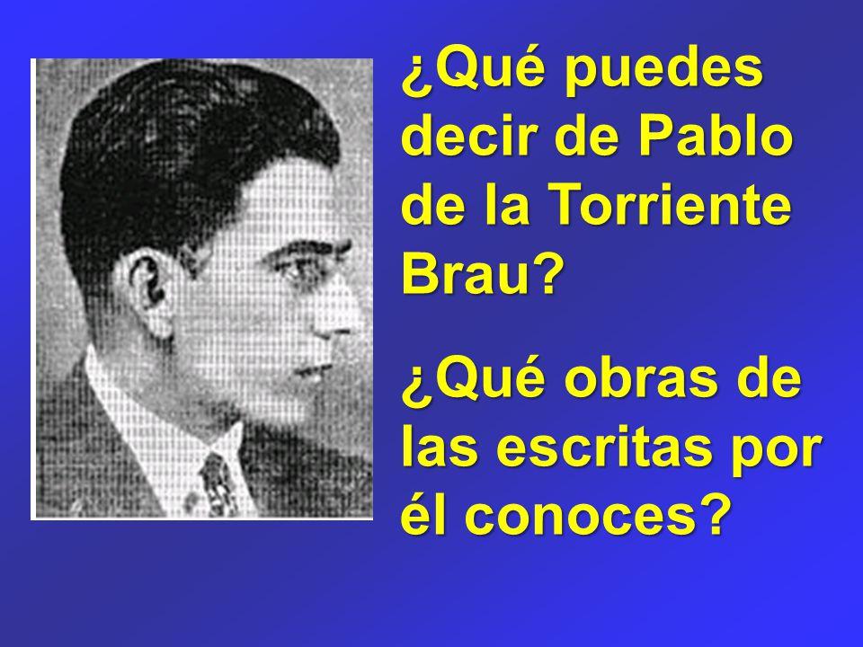 ¿Qué puedes decir de Pablo de la Torriente Brau ¿Qué obras de las escritas por él conoces