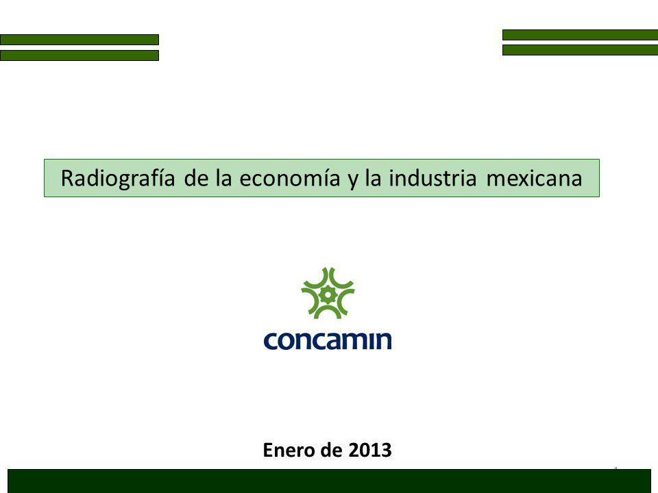 1 Radiografía de la economía y la industria mexicana Enero de 2013