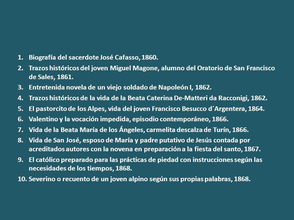 1.Biografía del sacerdote José Cafasso, 1860.