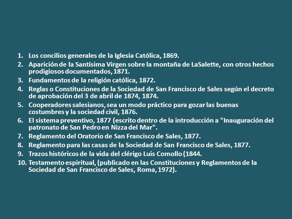 1.Los concilios generales de la Iglesia Católica, 1869.