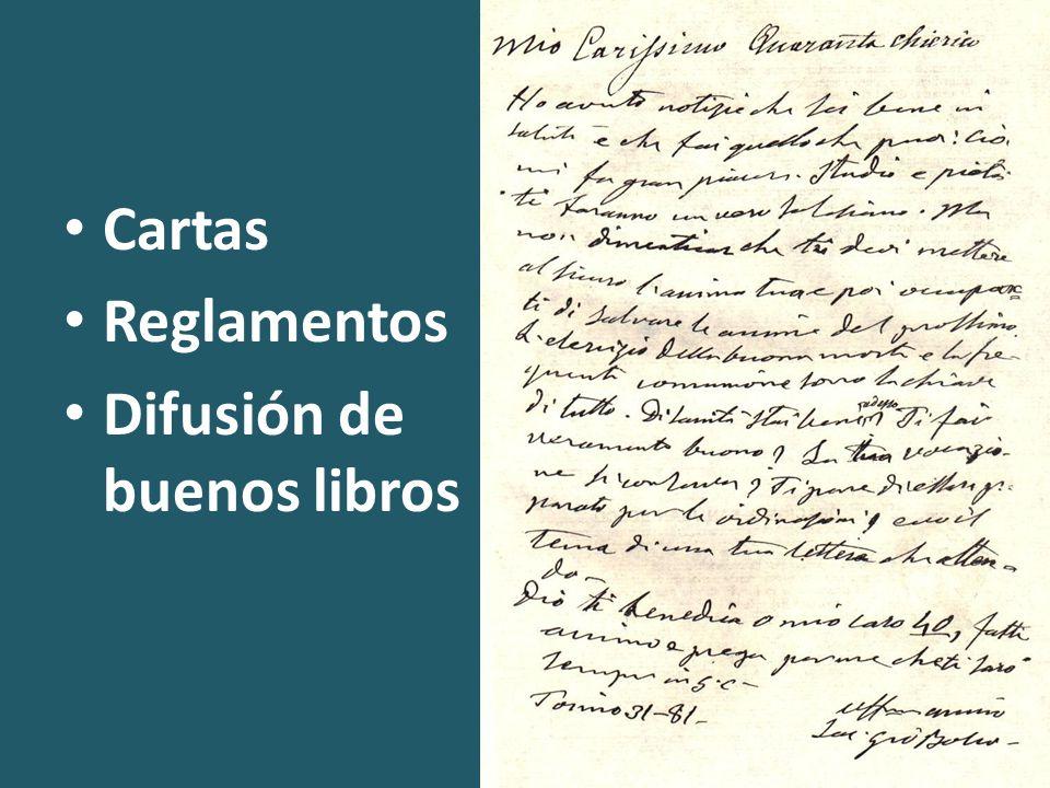 Cartas Reglamentos Difusión de buenos libros