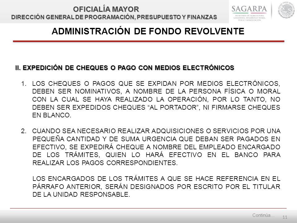 10 ADMINISTRACIÓN DE FONDO REVOLVENTE I. APERTURA DE CUENTA BANCARIA 1.