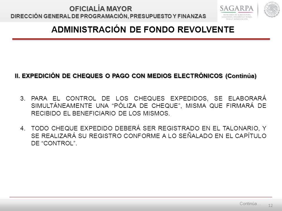 11 ADMINISTRACIÓN DE FONDO REVOLVENTE II.