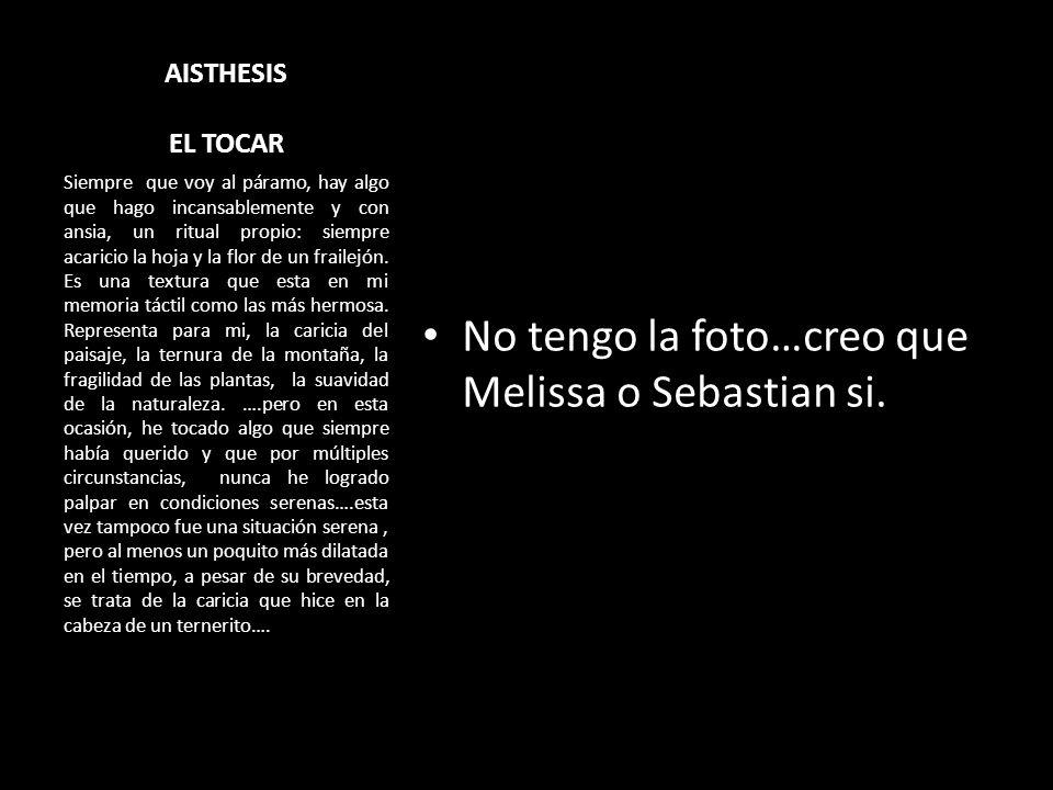 No tengo la foto…creo que Melissa o Sebastian si.