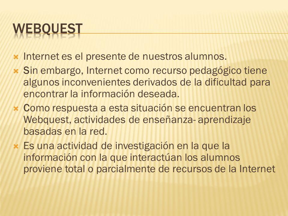  Internet es el presente de nuestros alumnos.