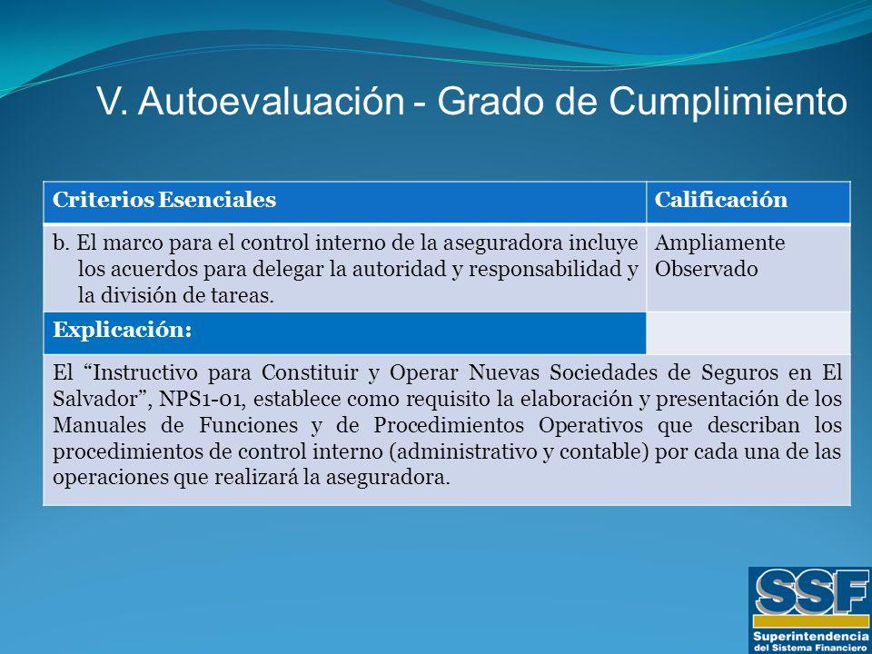 Criterios EsencialesCalificación b.