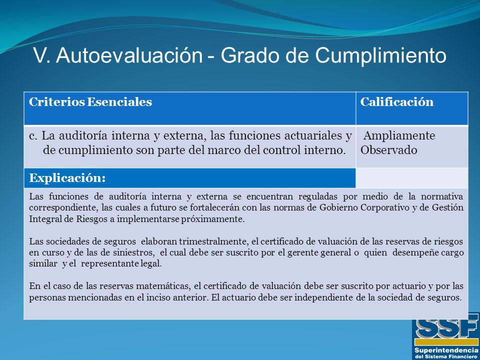 Criterios EsencialesCalificación c.