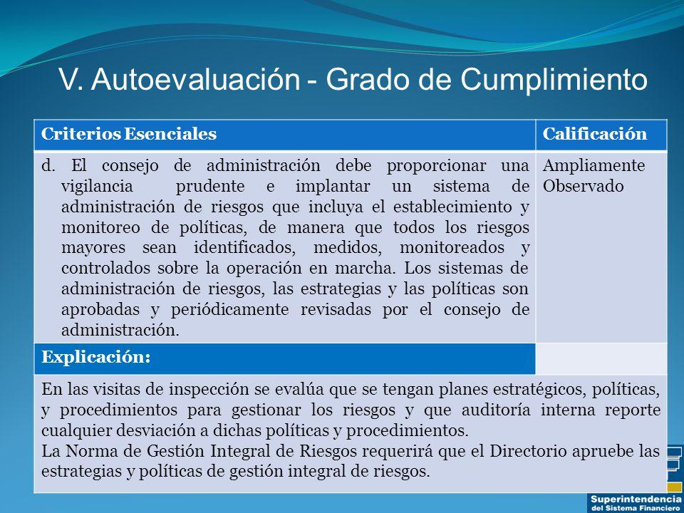 Criterios EsencialesCalificación d.