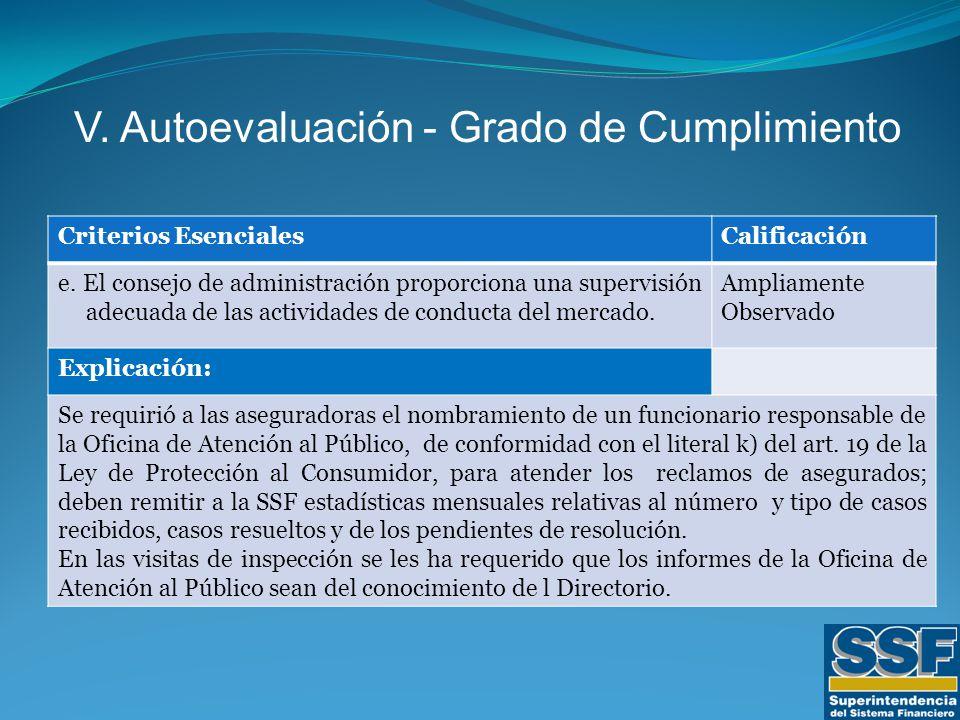 Criterios EsencialesCalificación e.