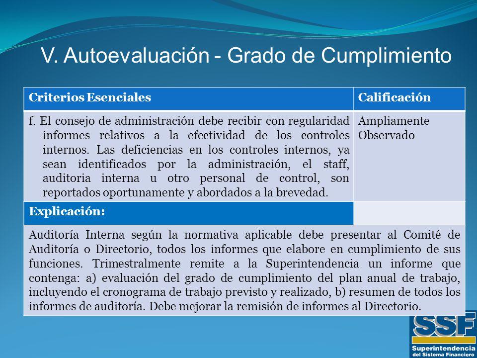 Criterios EsencialesCalificación f.