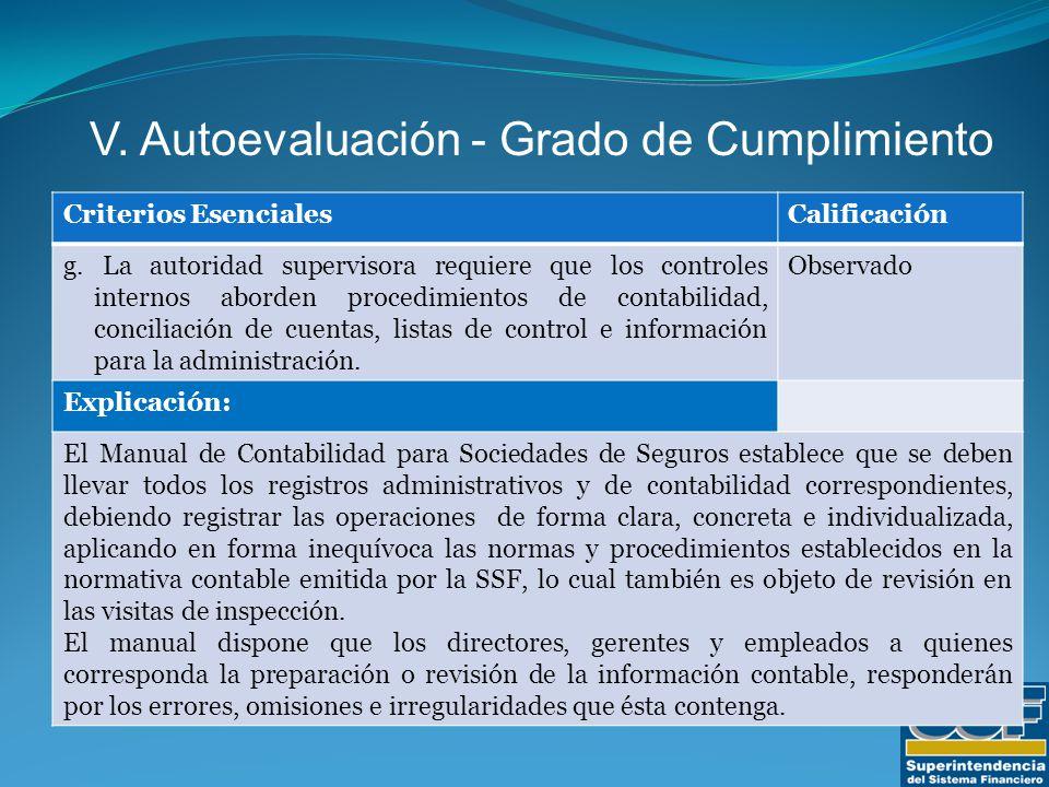 Criterios EsencialesCalificación g.