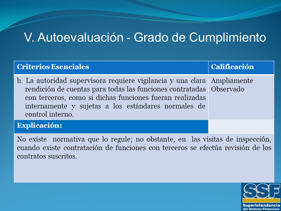 Criterios EsencialesCalificación h.