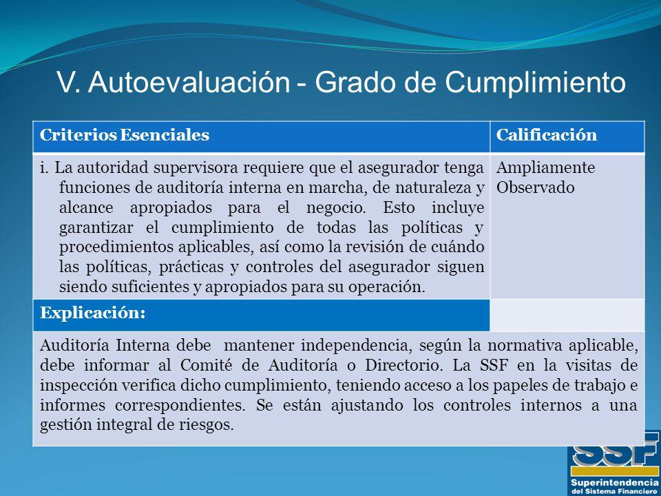 Criterios EsencialesCalificación i.