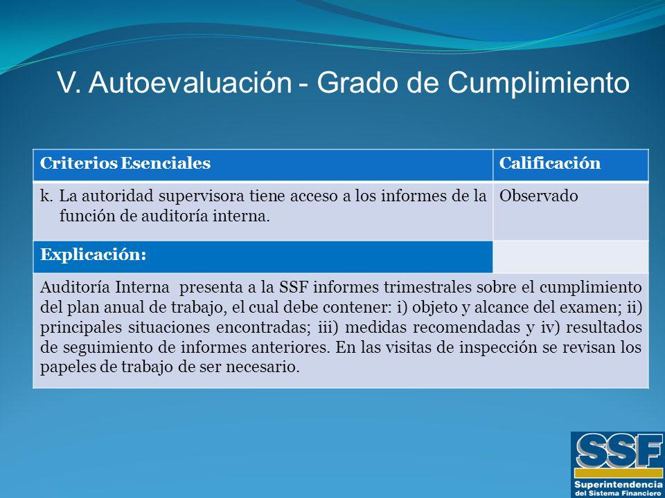 Criterios EsencialesCalificación k.