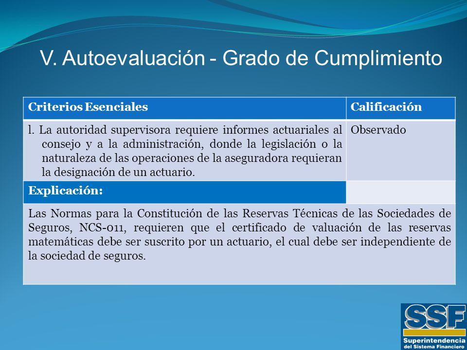 Criterios EsencialesCalificación l.