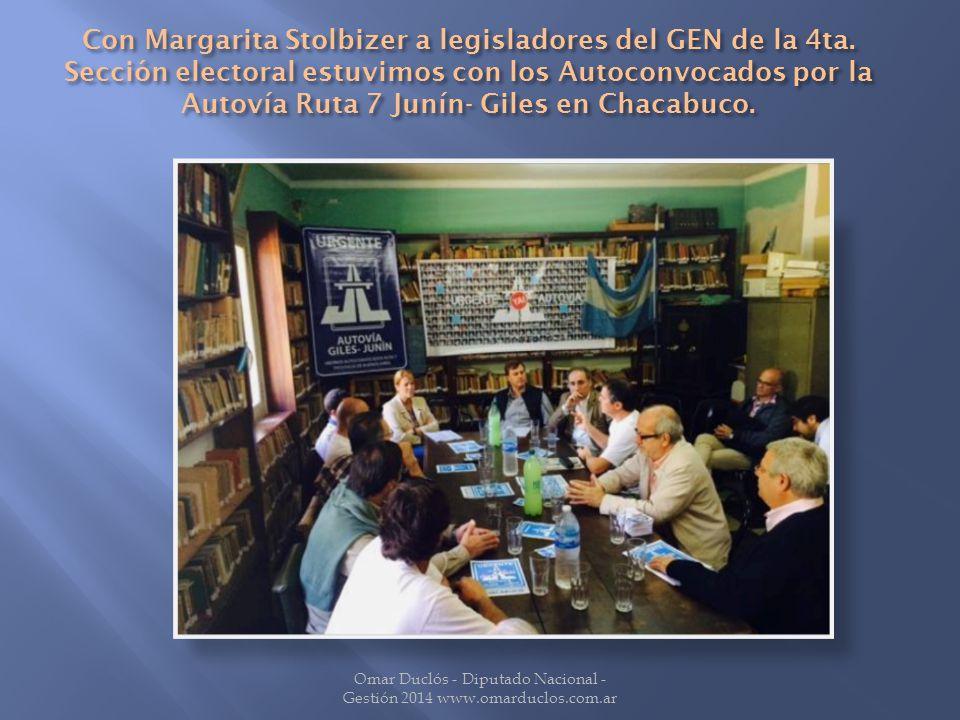 Con Margarita Stolbizer a legisladores del GEN de la 4ta.