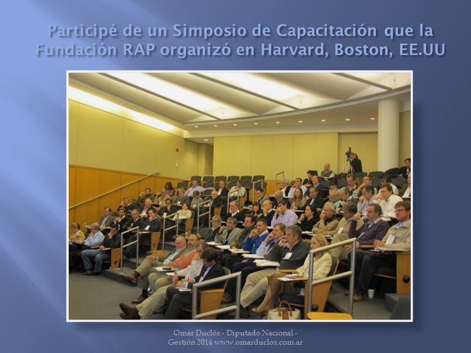 Omar Duclós - Diputado Nacional - Gestión 2014 www.omarduclos.com.ar