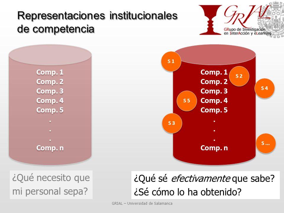 Representaciones institucionales de competencia ¿Qué necesito que mi personal sepa.