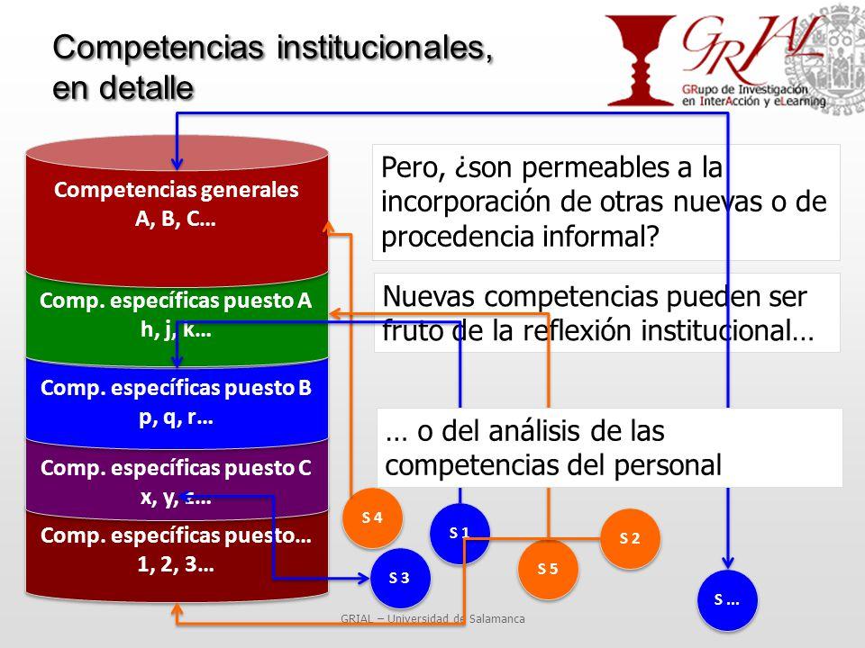 Competencias institucionales, en detalle GRIAL – Universidad de Salamanca Pero, ¿son permeables a la incorporación de otras nuevas o de procedencia informal.