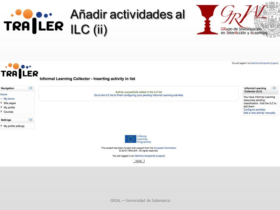 Añadir actividades al ILC (ii) GRIAL – Universidad de Salamanca