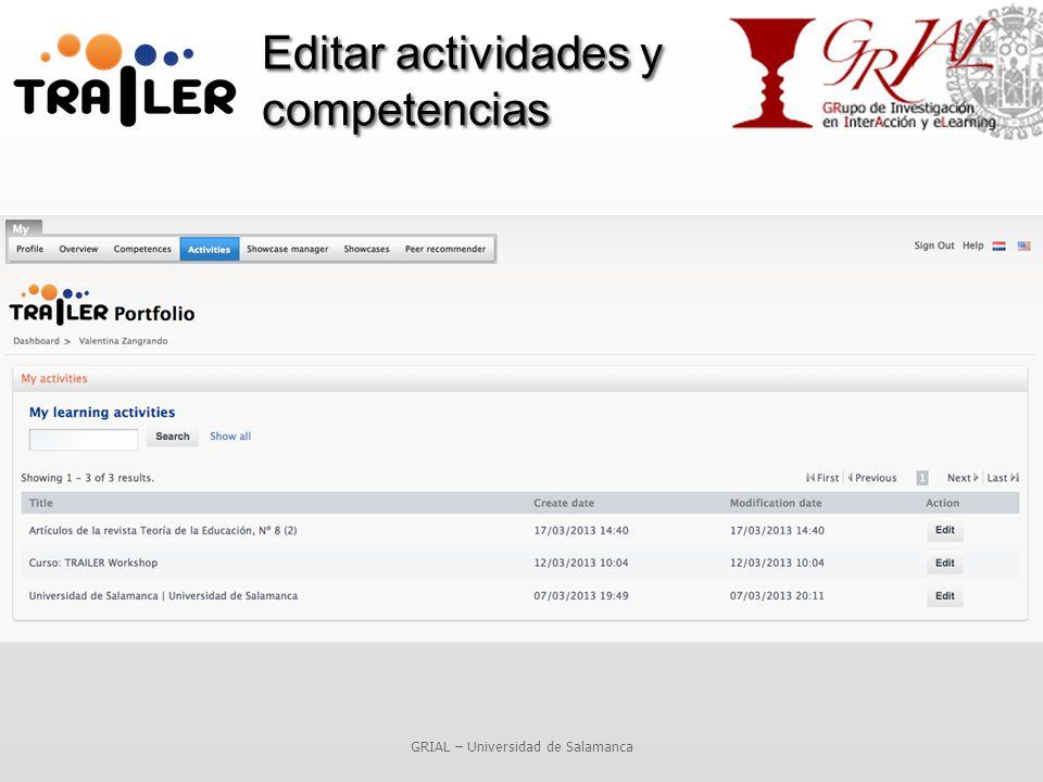 Editar actividades y competencias GRIAL – Universidad de Salamanca