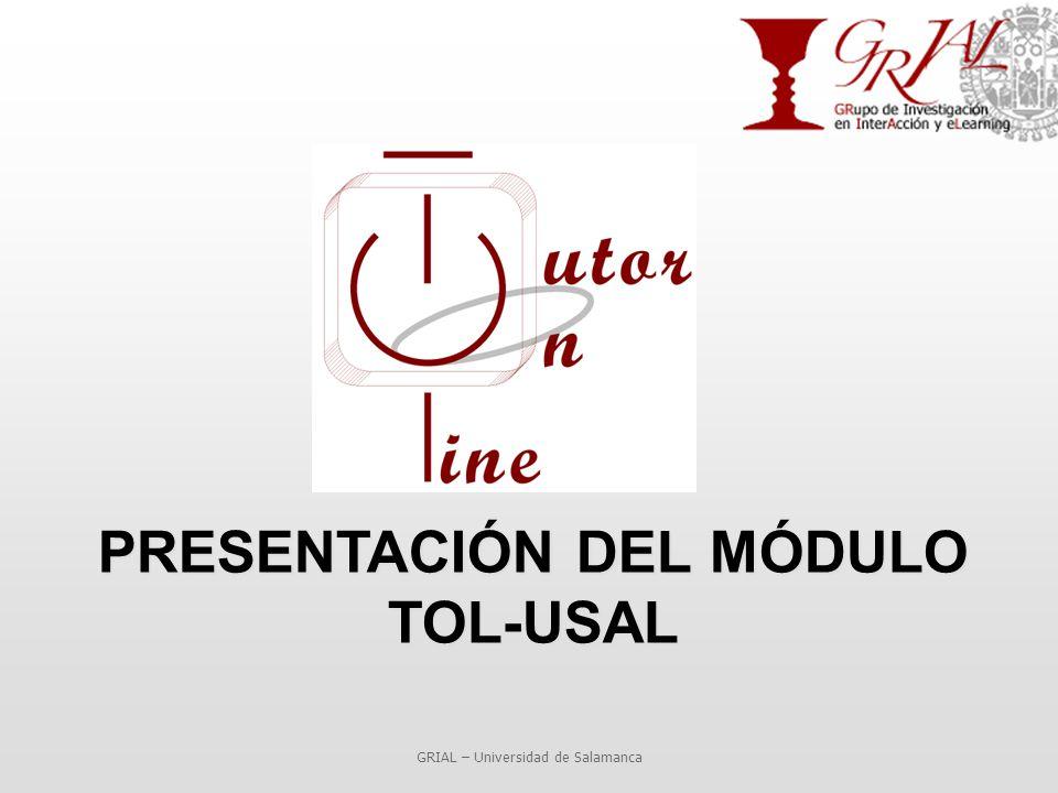 PRESENTACIÓN DEL MÓDULO TOL-USAL GRIAL – Universidad de Salamanca